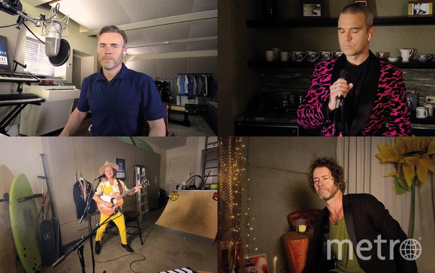 Робби Уильямс воссоединится с группой Take That, чтобы дать онлайн-концерт. Фото Getty
