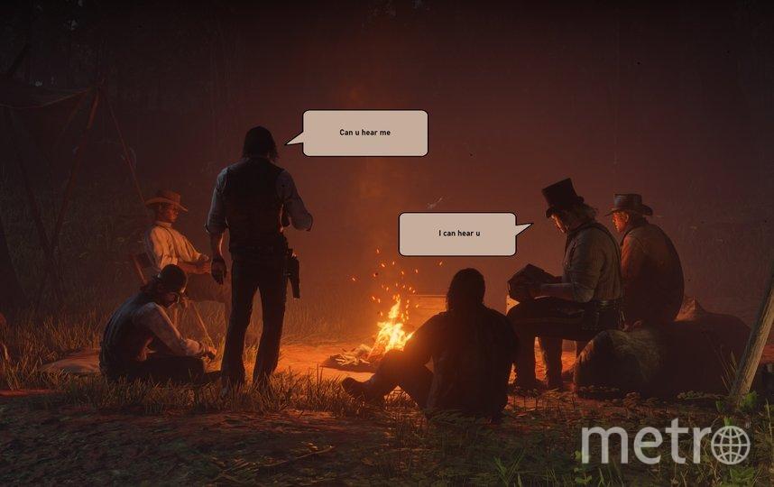 Так выглядят конференции коллег-ковбоев в игре. Фото Скриншот игры Red Dead Redemption 2.