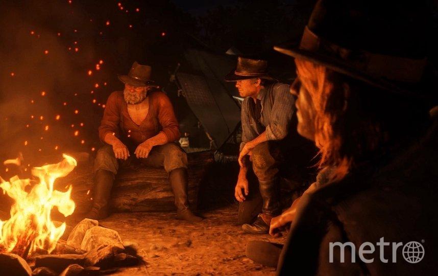 Преимущество ковбоев в их мимике и жестах. Фото Скриншот игры Red Dead Redemption 2.
