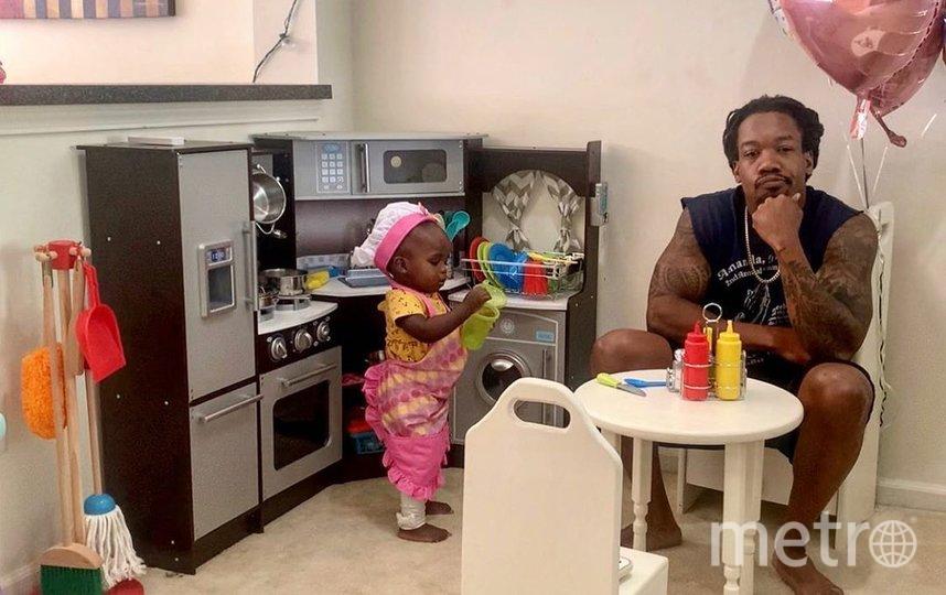 Крис и его дочка. Фото Скриншот Instagram/christophe_kyle