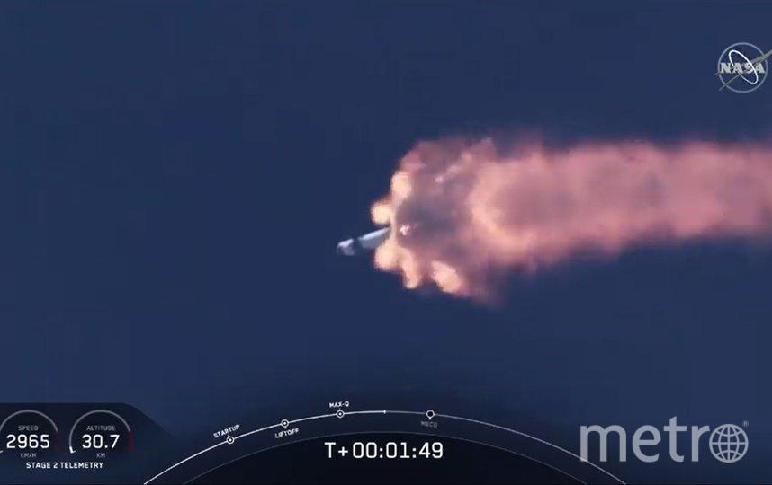 Корабль Crew Dragon стартовал в 22:22 по московскому времени. Фото AFP