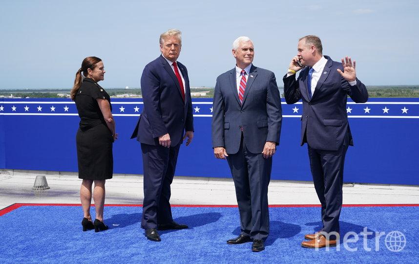 На космодром прибыли президент США Дональд Трамп и вице-президент Майк Пенс. Фото AFP