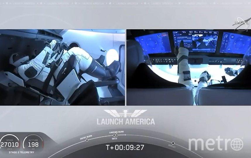 Корабль Crew Dragon успешно стартовал к МКС. Фото AFP