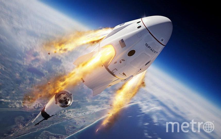 Корабль Crew Dragon стартовал 30 мая в 22:22 по московскому времени. Фото Space X
