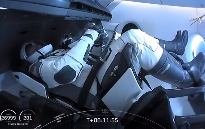 Сближение корабля с МКС началось примерно за два часа до стыковки. Фото AFP