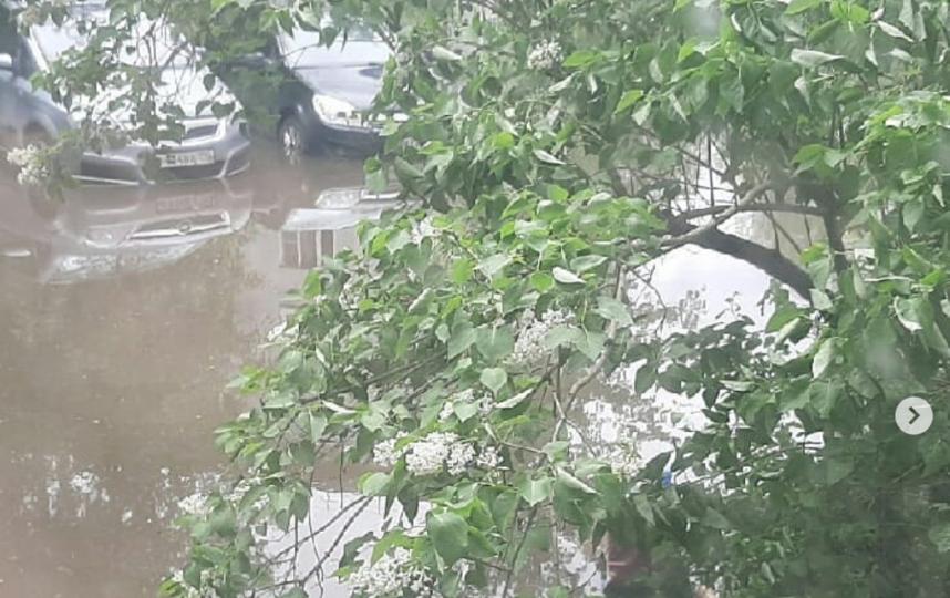 Подмосковье #затопило. Фото Instagram @olgapersina095