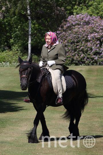 Королева Елизавета II на конной прогулке в Виндзорском замке. Фото Getty