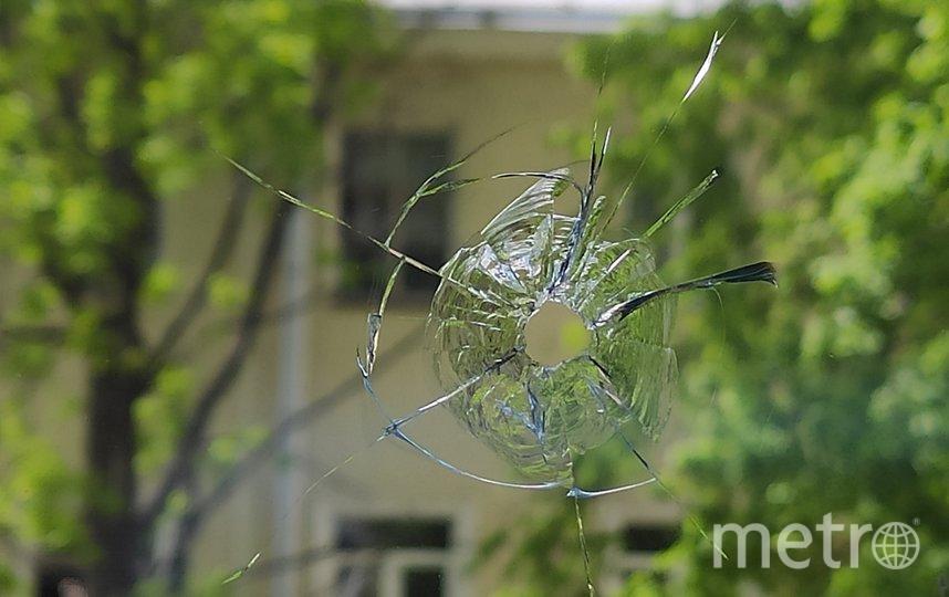 Следы выстрела. Фото spb_today, vk.com