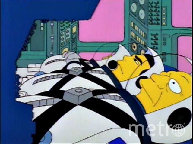 Космонавты из мультсериала очень похожи на астронавтов SpaceX. Фото Twitter, скриншот @VidaSimpsonMX
