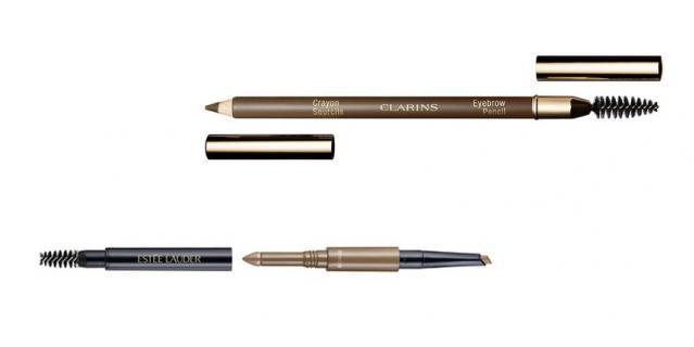 Многофункциональное средство для бровей (карандаш, пудра, щёточка) Estee Lauder Brow Multi-Tasker / Карандаш для бровей со щёточкой Clarins Crayon Sourcils.
