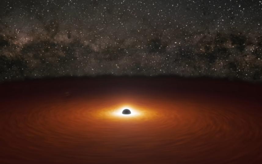 """Солнце и """"чёрные дыры"""". Фото Скриншот Youtube"""