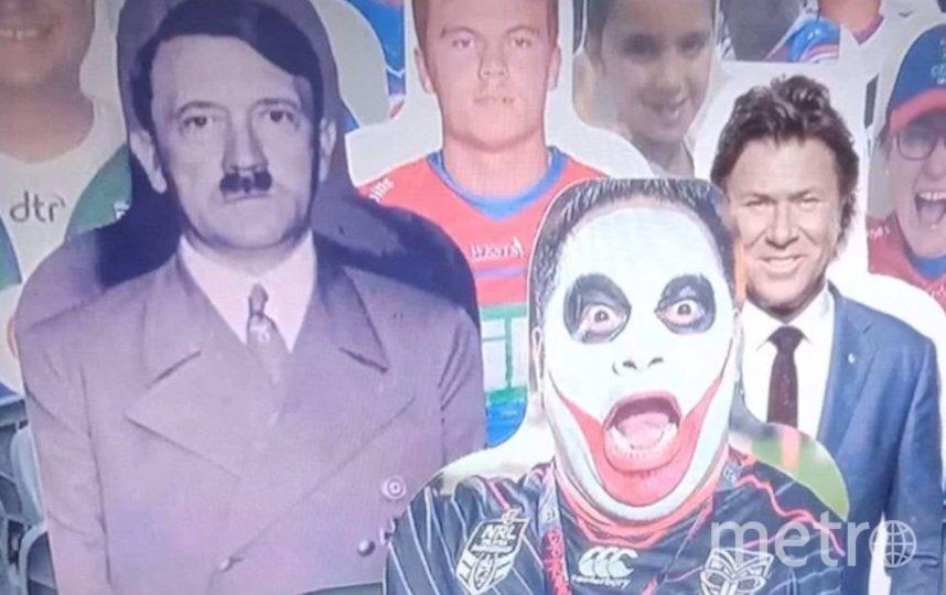 """Чёрно-белое изображение фюрера показали во время шоу """"Воскресный вечер с Мэтти Джонсом"""" на Fox Sports. Фото канал BBNews US, Скриншот Youtube"""