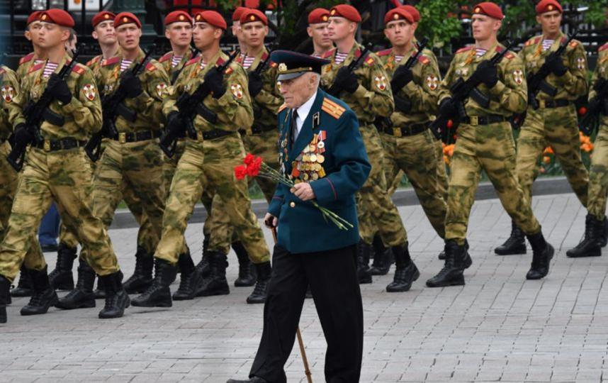 Так в Москве отмечали 74-ю годовщину победы в Великой Отечественной войне. 2019 год. Архивное. Фото AFP