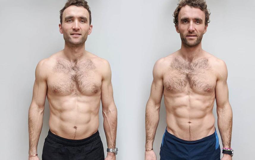 За 12 недель веганской диеты Хьюго потерял почти 2 кг и его вес снизился до 82 кг. Фото instagram.com/theturnertwiins