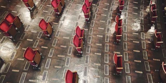 Обновлённый зал театра Berliner Ensemble.