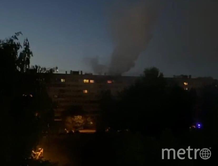 Фото пожара на Выборгском шоссе. Фото ДТП/ЧП, vk.com