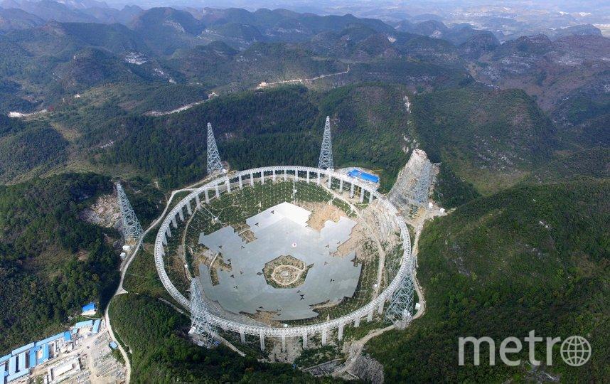 """Момент строительства """"небесного ока"""". Фото AFP"""