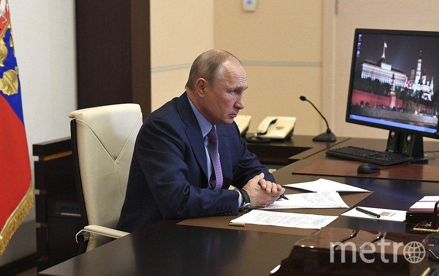 Путин во время совещания. Фото скрин-шот, Скриншот Youtube