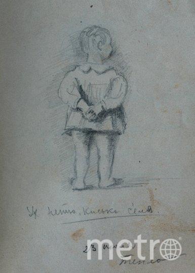 """1947 год. Набросок дочери Люси, эту работу художник отправил своей жене, которая отбывала наказание в лагере. Фото предоставлены Людмилой Макаровой, """"Metro"""""""