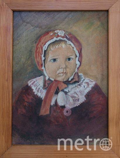 """1947–1948 гг. Портрет дочери Люси, выполненный на куске фанеры. Фото предоставлены Людмилой Макаровой, """"Metro"""""""