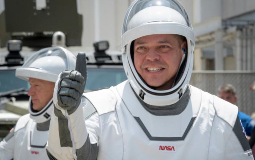 Даг Хёрли и Роберт Бенкен прибыли на МКС на корабле Crew Dragon. Фото AFP