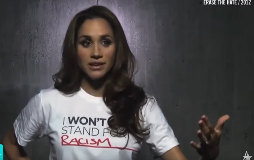"""В 2012 году Меган Маркл приняла участие в кампании """"I Won't Stand For…"""". Фото https://www.youtube.com/watch?v=2qGRGSc4ncA, Скриншот Youtube"""
