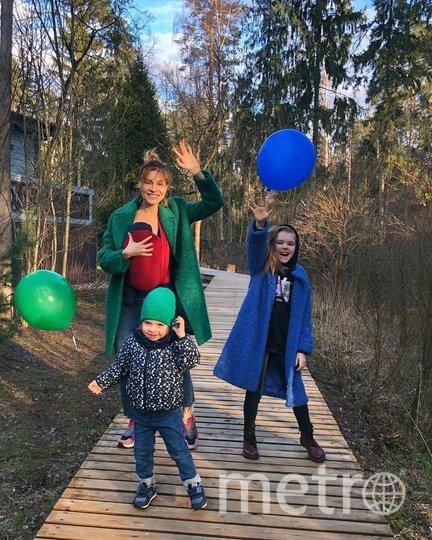 Елена Подкаминская с детьми. Фото instagram.com/podkaminskaya_official.
