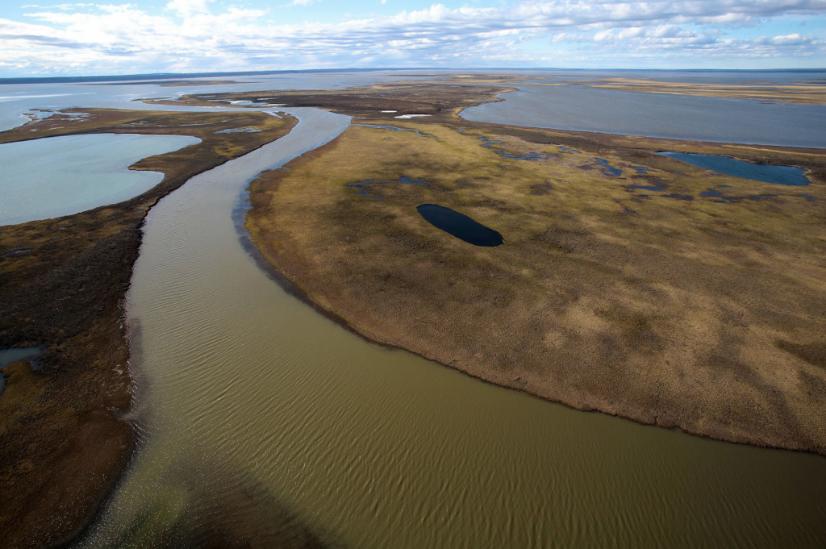 Общая площадь загрязнения после ЧП с разливом дизельного топлива в Норильске составила 180 тысяч квадратных метров. Фото nornickel.ru
