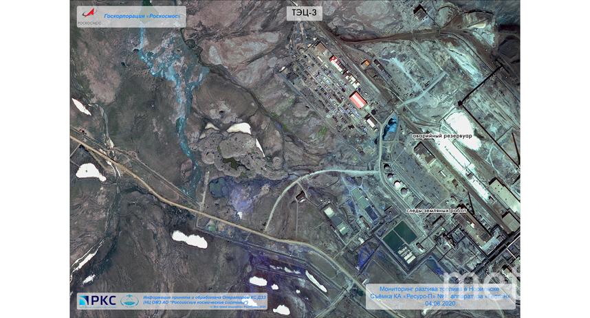На этом снимке виден сам аварийный резервуар. Фото www.roscosmos.ru