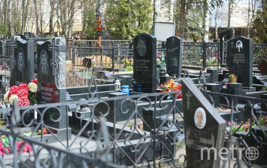 Московские кладбища закрыты для посетителей с 9 апреля. Фото Василий Кузьмичёнок