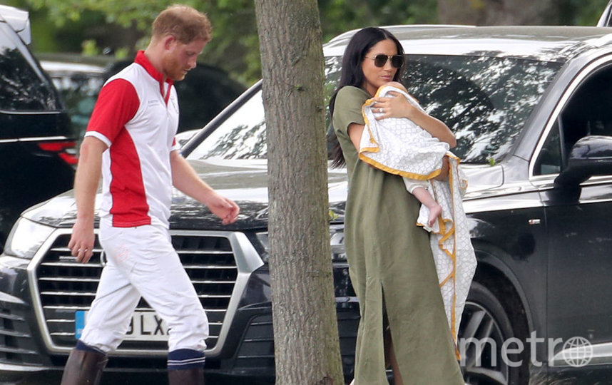 Принц Гарри и Меган Маркл с сыном Арчи. Фото Getty