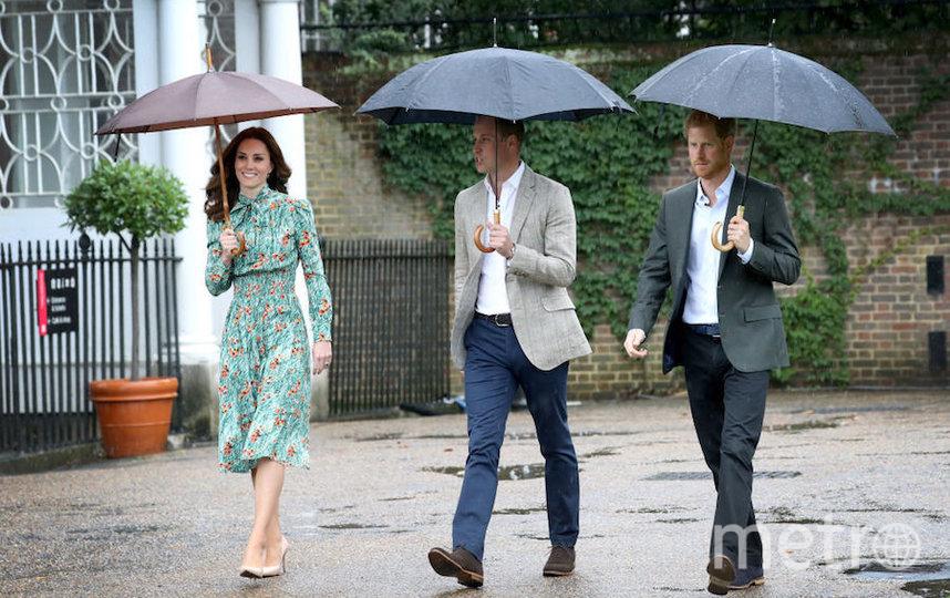 Принцы Уильям и Гарри с Кейт Миддлтон. Фото Getty