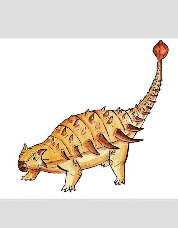 """Как мог выглядеть анкилозавр Bissektipelta archibaldi. Фото предоставили авторы исследования, """"Metro"""""""