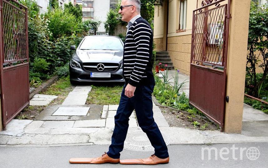 Румынский обувщик  Григор Луп создал туфли 75 размера. Фото GRIGORE LUP / FACEBOOK