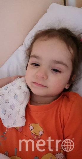 Девочка в больнице, март. Фото предоставила Людмила