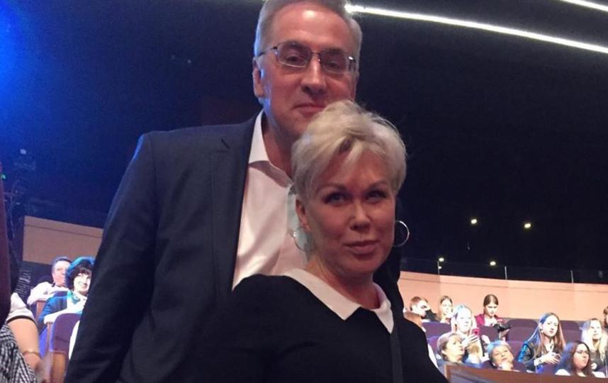 Андрей Норкин с женой.