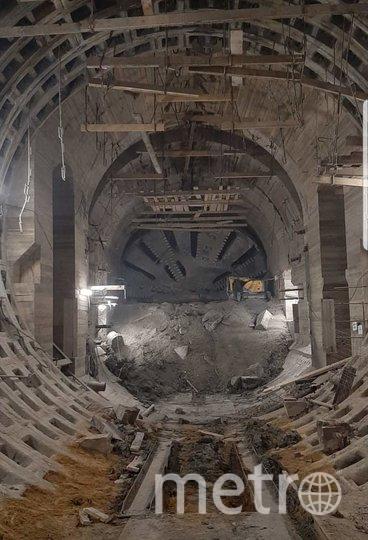 """Фото строящейся станции """"Горный институт"""". Фото vk.com"""