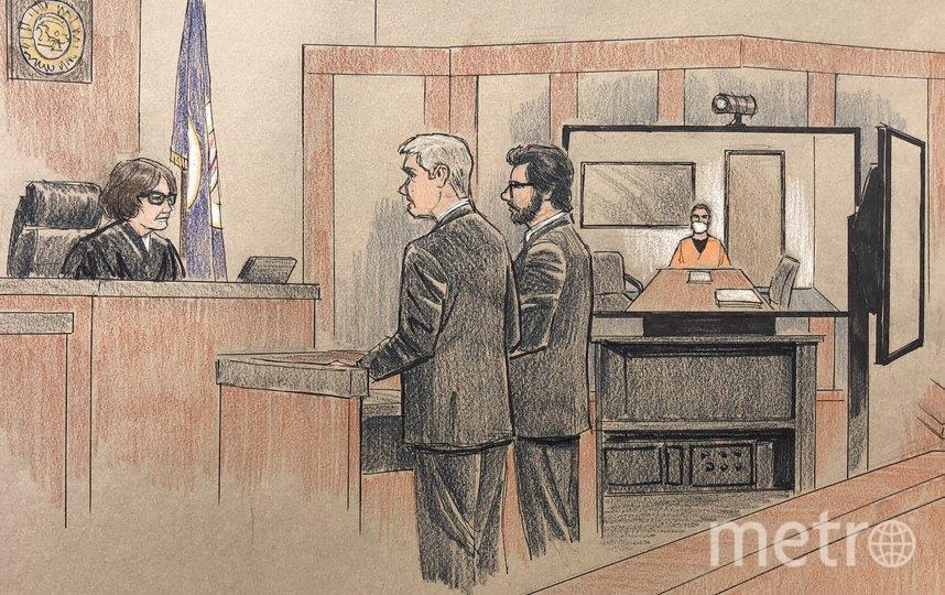 44-летний обвиняемый Дерек Шовен присутствовал на заседании посредством телеконференции. Фото AFP
