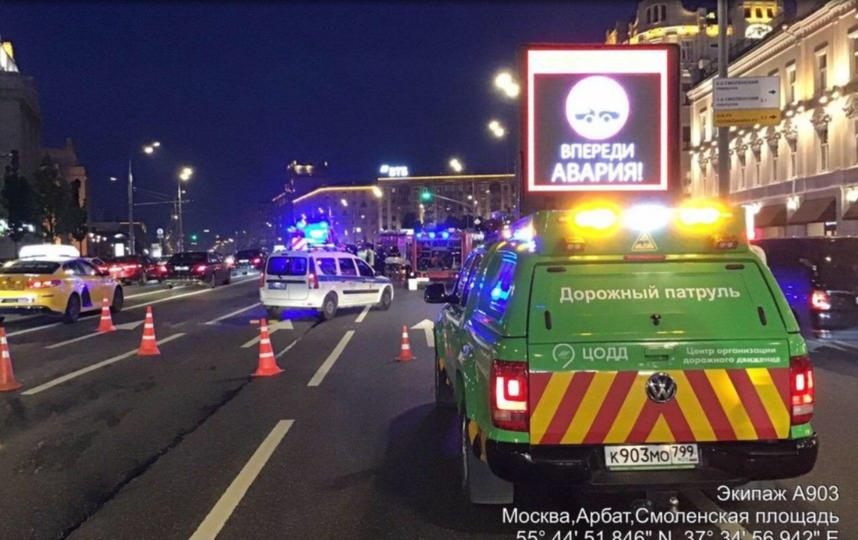 ДТП произошло поздно вечером 8 июня. Фото скриншот Twitter | ЦОДД @gucodd