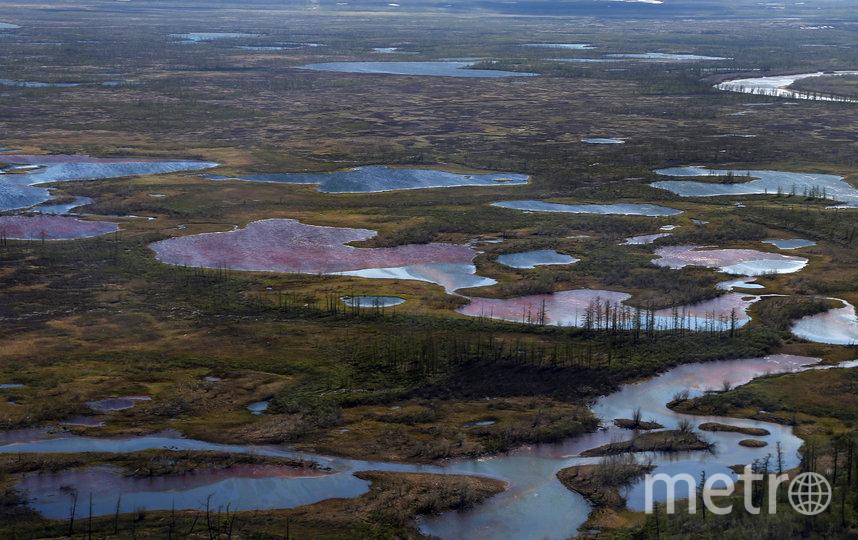 Разлив нефтепродуктов в Норильске произошёл 29 мая. Фото AFP