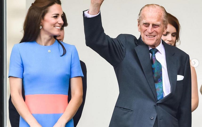 Принц Филипп и Кейт Миддлтон. Фото Instagram @kensingtonroyal
