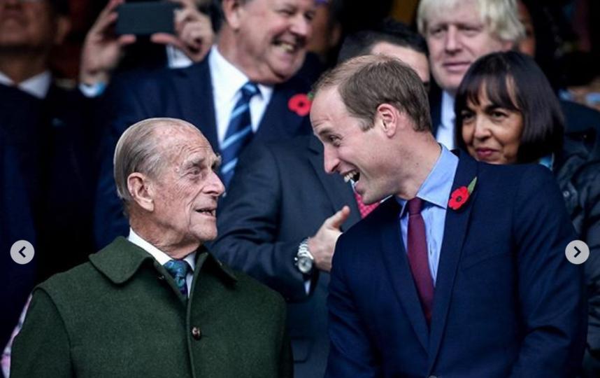 Принц Филипп со старшим внуком. Фото Instagram @kensingtonroyal
