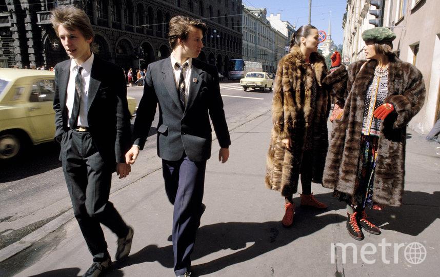 "«Модники Ленинграда». Фердинандо Шанна, 1987 г. Фото magnum photos, ""Metro"""