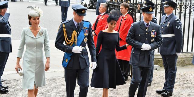 Кейт Миддлтон, принц Уильям, Меган Маркл и принц Гарри.