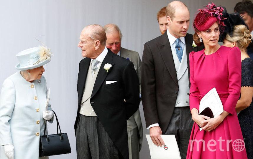 Принц Уильям и Кейт Миддлтон с королевой Елизаветой II и принцем Филиппом. Фото Getty