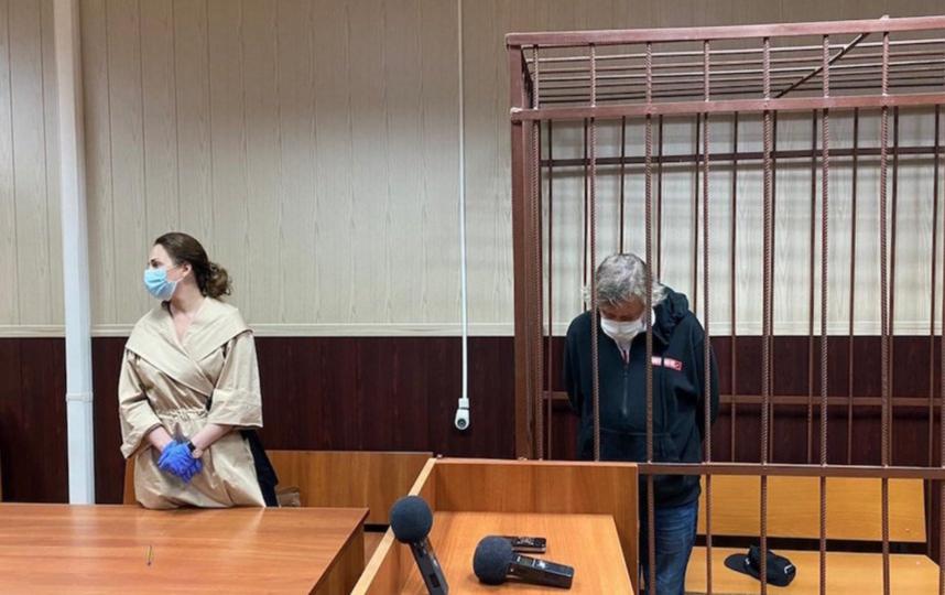 """Михаил Ефремов в зале суда. Фото АГН """"Москва"""""""
