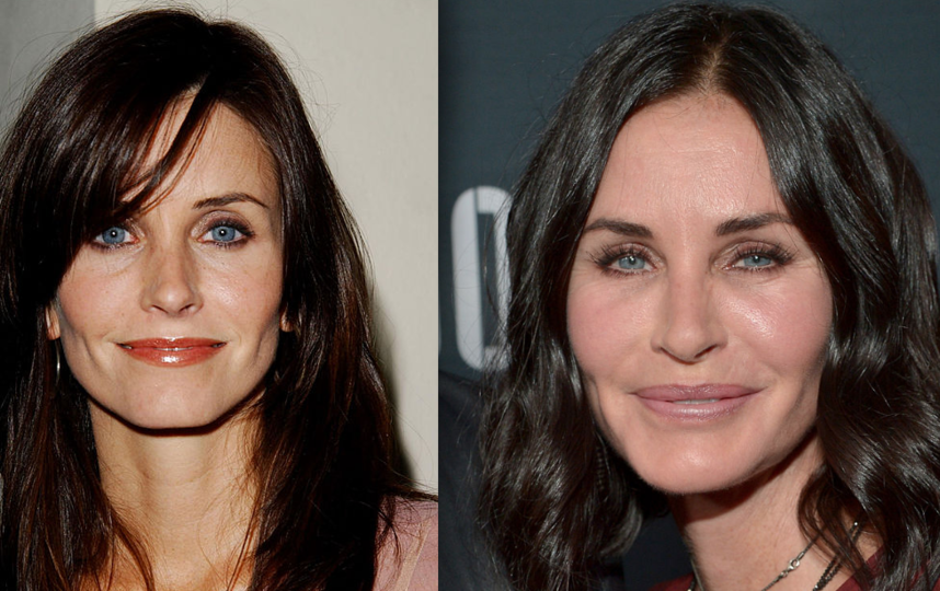 Фото актрисы - 2002 год и 2015 год. Фото Getty