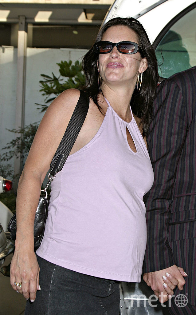 Кортни Кокс беременна. 2003 год. Фото архив, Getty