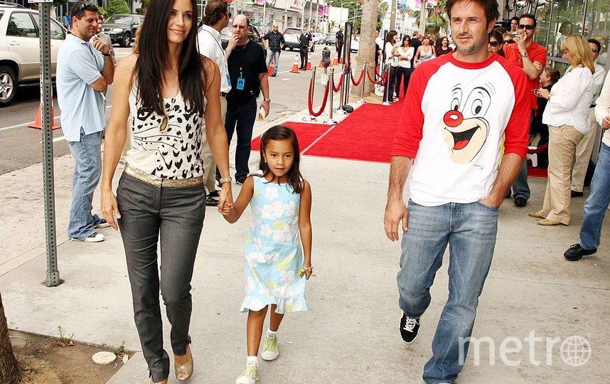 Кортни Кокс и Дэвид Аркетт с дочкой. Фото архив, Getty