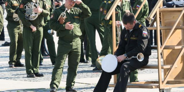 Репетиция Парада Победы 17 июня в Петербурге.